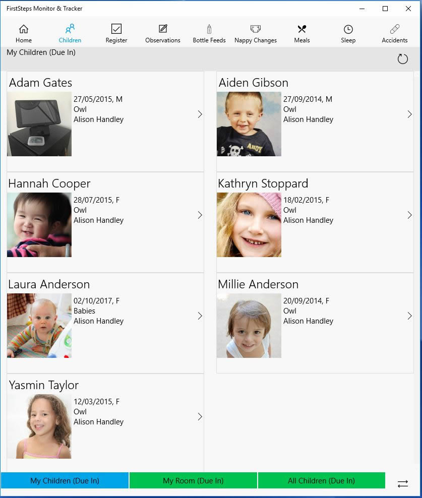 Children Page - Windows 10